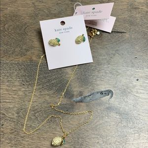 🐕‍🦺Brand New Kate Spade ♠️ Gold Lemon Jewelry